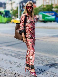 Copenhagen Fashion Week: printed pajamas.