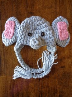 Newborn Crochet Elephant Hat via Etsy