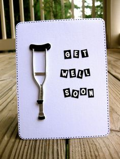 Personnalisé Get Well Soon Carte de Prompt rétablissement après maladie accident