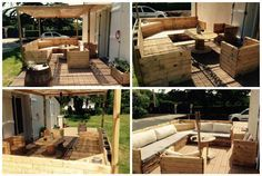 #PalletGardenSet, #PalletTerrace, #RepurposedPallet