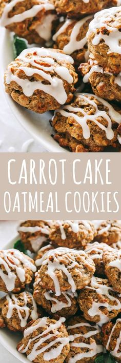 Carrot Cake Oatmeal Cookies Recipe – Irresistible, soft and chewy oatmeal cookies bursting with carrot cake flavor, are super easy to make and taste amazing! #Easter #carrotcake #cookies