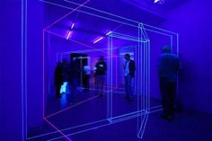 UV-Light Thread Installations - Korean Artist Jeongmoon Choi Plays with Perception and Illusion (GALLERY)