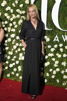 Uma Thurman at the Tony Awards 2017. Fashion. Look. Outfit.