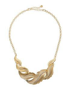 Lydell NYC Golden Leaf Texture Pave Necklace, $22.50