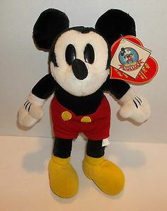 Mickeys World Collection HEART BEAT Disney Plush Mouse With Tags RARE 12 inch - ADORABLE  Hard To Find This One - Whether on a wee ones shelf, or for an older child to play with, or just as good for us kids at heart or MICKEY COLLECTORS of any age -at ThenAndAgainTreasures on eBay