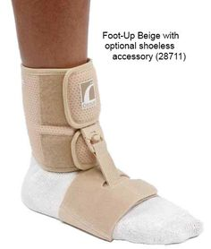 The Shoeless Foot-Up accessory connects to the Foot-Up & allows the orthosis to be worn at home without footwear. The Shoeless wrap fits around arch of the foot & clips to the Foot-Up anklet. Bearpaw Boots, Ugg Boots, Plantar Fasciitis Night Splint, Walker Boots, Ankle Surgery, Hand Therapy, Physical Therapy, Foot Drop, Braces