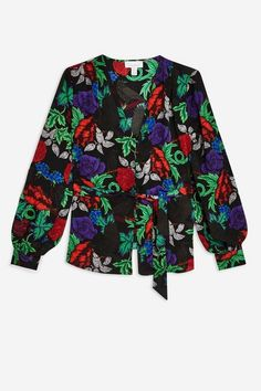 Chemisier à fleurs boutonné sur le devant - Chemises & Blouses - Vêtements - Topshop