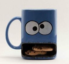 a slot for the cookies in a mug, brilliant
