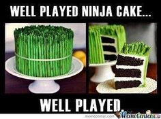 Oh look! A healthy snack! Wait a second... since when did asparagus come in layers?! #ninjacake #cake #healthy #justkidding #fitness #jackibuchananfitness #asparagus #delicious #wellplayed #stealthy