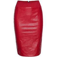 James Lakeland Faux Leather Zip Skirt