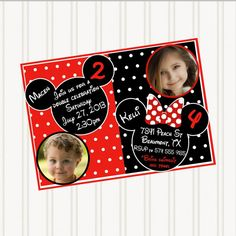 Joint birthday invitation Joint Birthday Party InvitationTwins