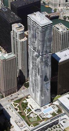 Aqua 262m 82fl 2009,Chicago -Designer: Jeanne Gang