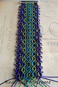 Micro Macrame Bracelet Work in Progress - Media - Beading Daily Macrame Knots, Macrame Jewelry, Macrame Bracelets, Loom Bracelets, Macrame Tutorial, Bracelet Tutorial, Micro Macramé, Macrame Projects, Handmade Jewelry Designs