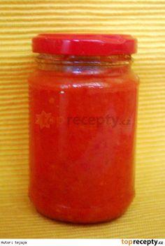 Rajčatovo-papriková pomazánka Russian Recipes, 20 Min, Preserves, Salsa, Food And Drink, Jar, Canning, Drinks, Polish