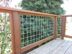 Usually used for stock confinement, galvanized or stainless welded wire mesh is an excellent material for deck railings — very strong and extremely durable. Description from pinterest.com. I searched for this on bing.com/images
