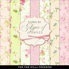 Far Far Hill - Free database of digital illustrations and papers: New Freebies Kit - Dance of Flowers