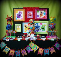 Monster Bash ~ Oh my this is the cutest Halloween party, such fun  & creative ideas... the monster cupcakes, monster marshmallows, oreo monsters pops, the creepy critter cakeballs, the games and decorations are  all fabulous!
