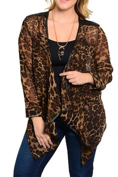 DHStyles Women's Brown Black Plus Size Trendy Open Front Animal Print Chiffon Cardigan #sexytops #clubclothes #sexydresses #fashionablesexydress #sexyshirts #sexyclothes #cocktaildresses #clubwear #cheapsexydresses #clubdresses #cheaptops #partytops #partydress #haltertops #cocktaildresses #partydresses #minidress #nightclubclothes #hotfashion #juniorsclothing #cocktaildress #glamclothing #sexytop #womensclothes #clubbingclothes #juniorsclothes #juniorclothes #trendyclothing #minidresses…