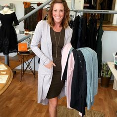 Heya Instagram!! Ready for a pop up sale? We have an Ali Pick for you today  These duster cardigans are on sale - today only- for $20!!  They come in 4 colors: charcoal olive pink and oatmeal. And they're going to go fast at this price. Stop by the store and get one or reserve your size with an email below!!  Remember: we can only hold these until closing at 6pm!! If you're not local we can ship to you (tell us in the comments) for $4.95 extra.  These dusters are so easy to pull on over…