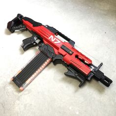 Nerf Rapidstrike N7 Mod by JLCustomsCreations on Etsy https://www.etsy.com/uk/listing/252386635/nerf-rapidstrike-n7-mod