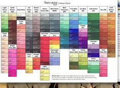 Spectrum noir color chart by happy stamper cards and paper crafts