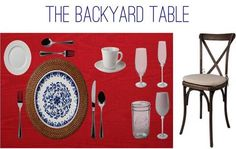 of July tabletop inspiration with our Virtual Table. Fourth Of July, Tabletop, Backyard, Summer, Inspiration, Home, Biblical Inspiration, Patio, Summer Time