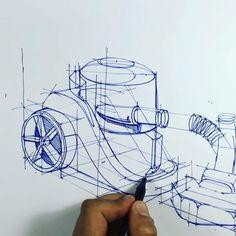 """⠀⠀⠀⠀⠀⠀⠀⠀⠀i r f a n c i f t c i - Part 13"""" industrial design sketches - vacuum cleaner Sketch exercises ✍.."""