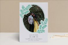 Growing Together Letterpress Save the Date Cards by Annie Montgomery of MontgomeryFest   Minted