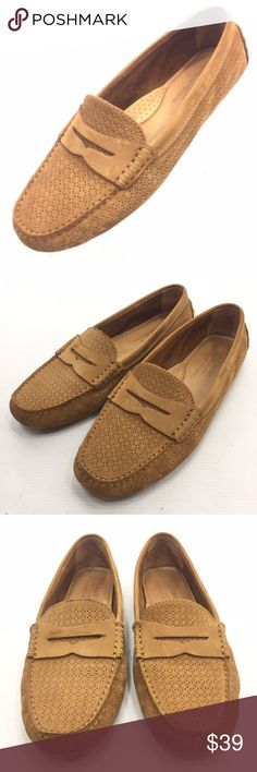 f484fbf7598 POLO RALPH LAUREN Camila Beige Suede Loafers 9B POLO RALPH LAUREN Camila  Women s Beige Suede Perforated