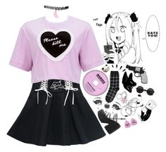 """""""crybaby ."""" by jackadis ❤ liked on Polyvore featuring Monki, Jeffrey Campbell, Humör, Old Navy, Revolver and Chicnova Fashion"""