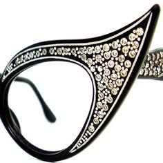 Vintage Extreme Cat Eye Glasses Eyeglasses by VintageEyeglassesCat, $260.00