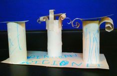Cardboard tube craft: Learning about Greek columns
