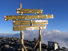 I want to see this sign in person someday... Mt. Kilimanjaro,Tanzania