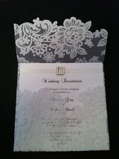Lace invitation. Save the dates?