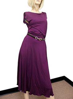 Gucci Women's Purple Rayon Runway Dress w/Leather Belt 277897 (Medium). Runway Dress with Leather Belt. Made of Rayon; Made in Italy. Best Designer Dresses, Branded Belts, Sleeve Styles, Fashion Brands, Topshop, Runway, Formal Dresses, Purple, Viola