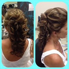 An elegant style for our mother of the bride Hair by Kew Hair Design