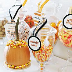 Halloween Party Food: Candy Buffet