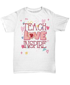 """Get this awesome """"Teach Love Inspire Motto"""" item for yourself or for any amazing teacher you know!"""