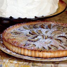 Poached Pear and Brown Butter Tart | Chef John Besh says he is crazy about winter fruit and loves using it in this brown butter-custard tart. He sometimes swaps the pears for apples or even quince.