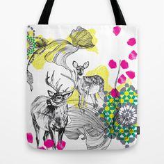 Deer+Essaouira+Tote+Bag+by+Esther+Pallett+-+$22.00
