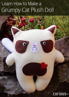 In this lesson, learn how to make a grumpy cat plush doll modeled after the internet meme