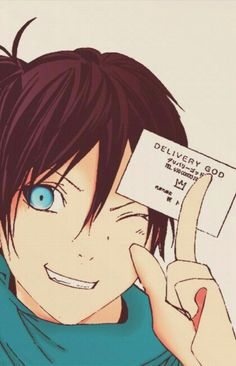 Yato gave me one of his cards at AniMinneapolis in May. XD Delivery God Yato - Chapter practicing new ways of coloring Anime Noragami, Yatogami Noragami, Yato And Hiyori, Girls Anime, Anime One, Manga Anime, Otaku, Chibi, Yatori