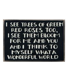 Primitives by Kathy I See Trees of Green Box Sign | zulily