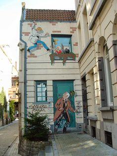 Bruxelles (ce mur existe vraiment bordel) #street art #graffiti