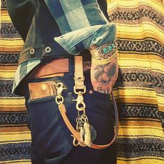 "selvedge-socks-shoes: ""My favorite leather good. Denim Fashion, Fashion Boots, Estilo Folk, Mode Hip Hop, Estilo Denim, Beastie Boys, Mens Gear, Biker Style, Moda Masculina"