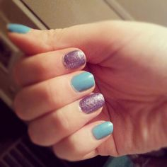 Baby blue and purple glitter