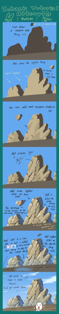 How to draw rock