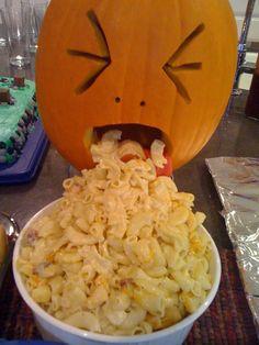 Halloween dinner. Simple dinner, disgusting presentation. :)
