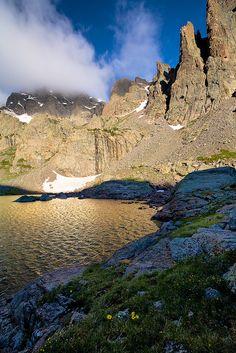 Sky Pond, Rocky Mountain National Park, Colorado, photo by Stan Rose