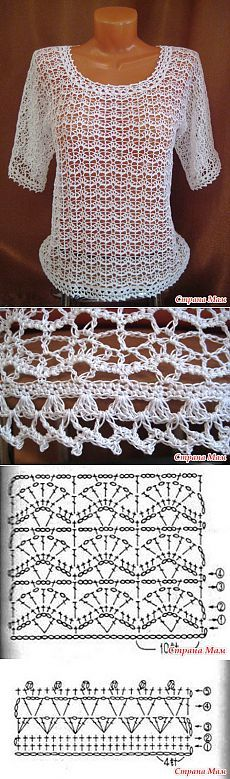 This doesn't link! I pinned it because I like the pattern and the diagram is shown. ;) етняя кофт